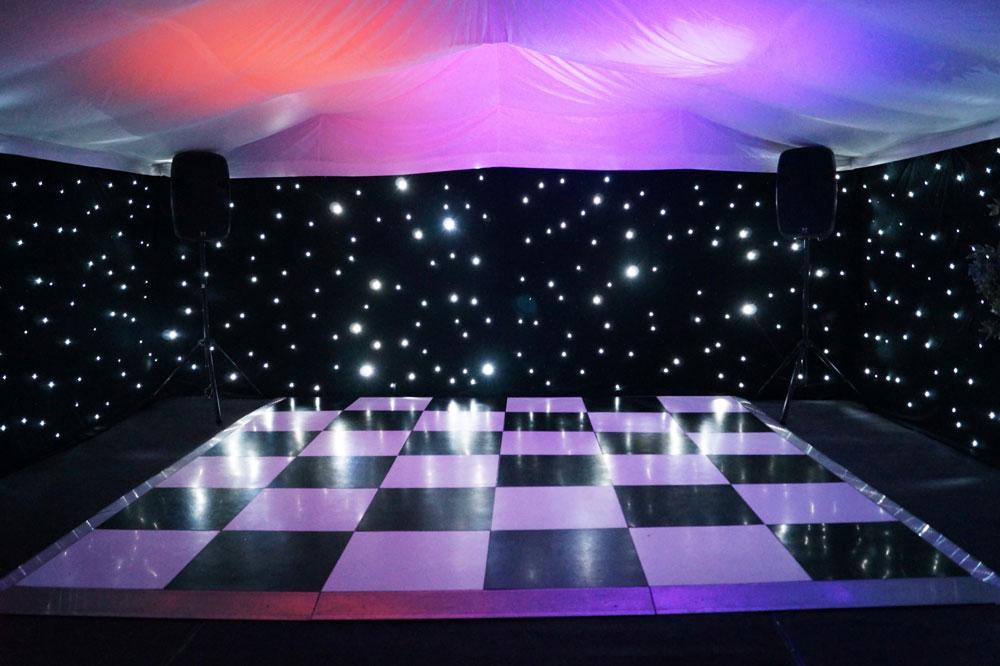Starlit Dance Floor Hire Marquee Jigsaw Marquees