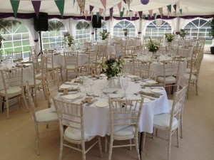 Jigsaw 96 Wedding Marquee at Ryton Village Hall