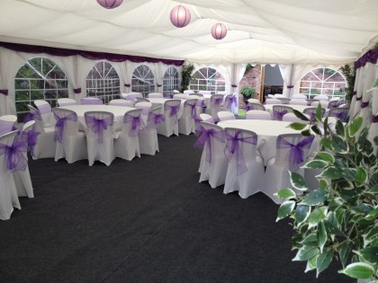 Jigsaw 72 Marquee in Walsall for a Wedding