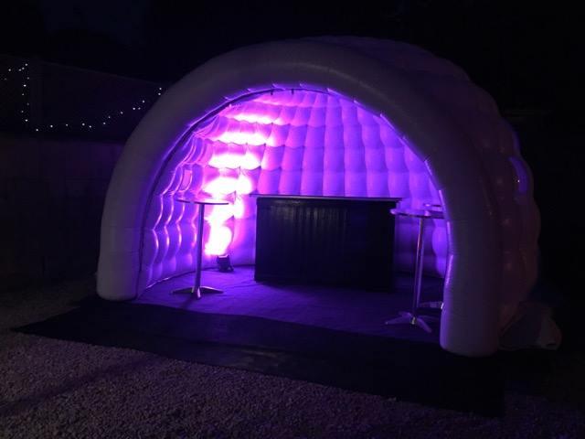 igloo portable bar in purple