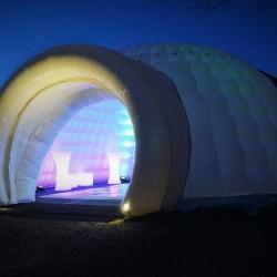 inflatable igloo lit up