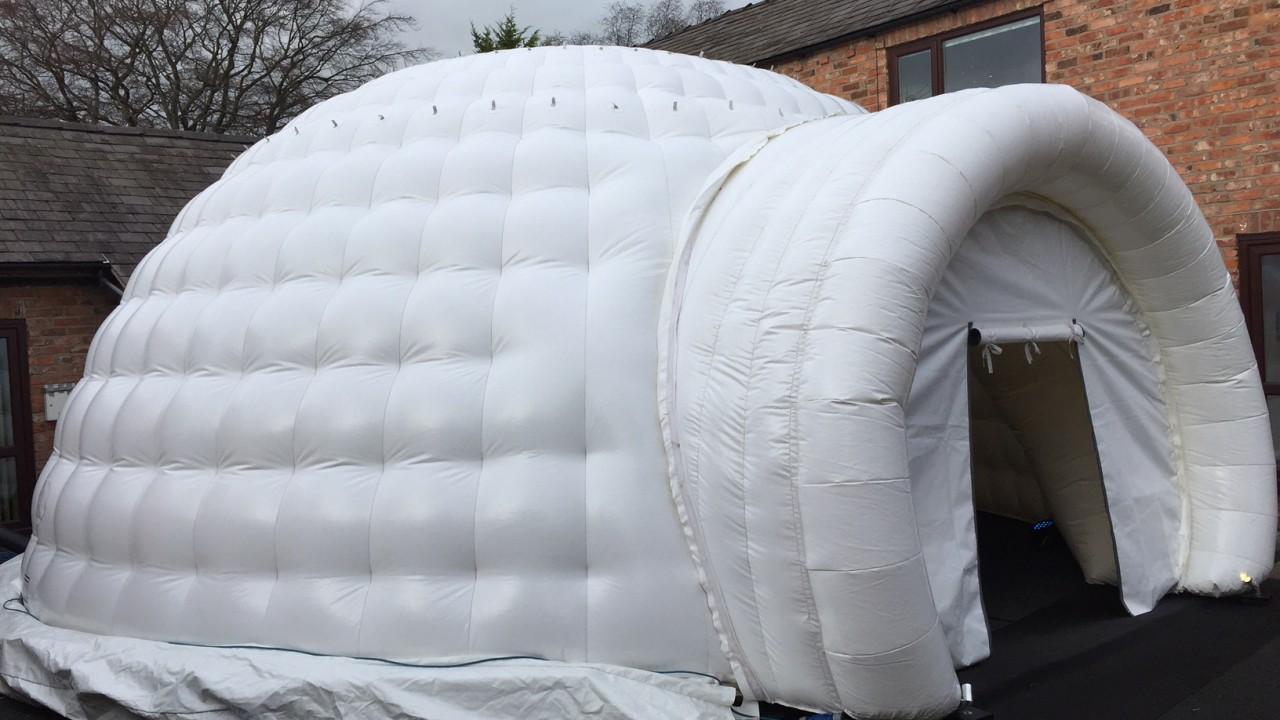 outside inflatable igloo