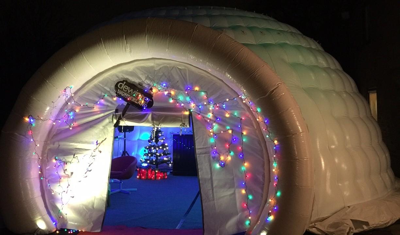 christmas inflatable igloo