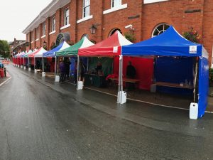 Jigsaw Gazebos at The Armoury Gin Festival in Shrewsbury